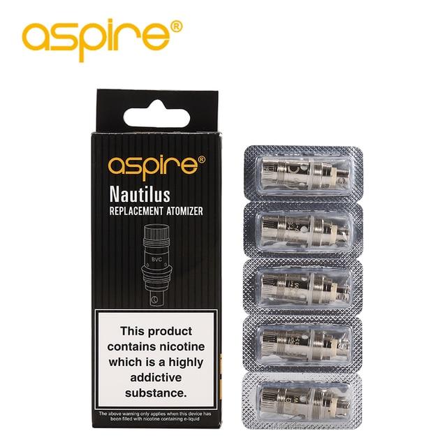 10Pcs Aspire Nautilus BVC Coils for Electronic Cigarette Evaporators Nautilus 2/Nautilus AIO/Nautilus Mini/ Vaporizer Vape Tank