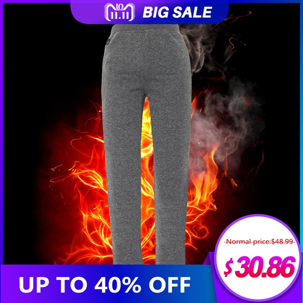 цена Heilsa Pants Outdoor Riding Skiing Pants USB Three-Level Heating Plus Velvet Women Plus Velvet Heating Pants Fishing Pants Men онлайн в 2017 году
