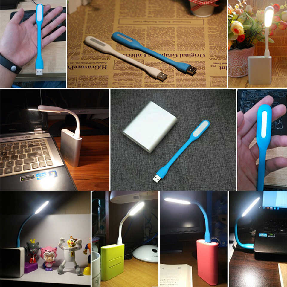 المحمولة Led ضوء الكتاب مصغرة USB الخفيفة مرنة مشرق الصمام مصباح أضواء كتاب القراءة مصباح للسفر نوم قوة البنك PC كمبيوتر محمول