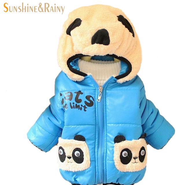 La moda del envío gratis abrigos de algodón para niños infantil chicos forman la capa de la rebeca niño para niños ropa de bebé minorista
