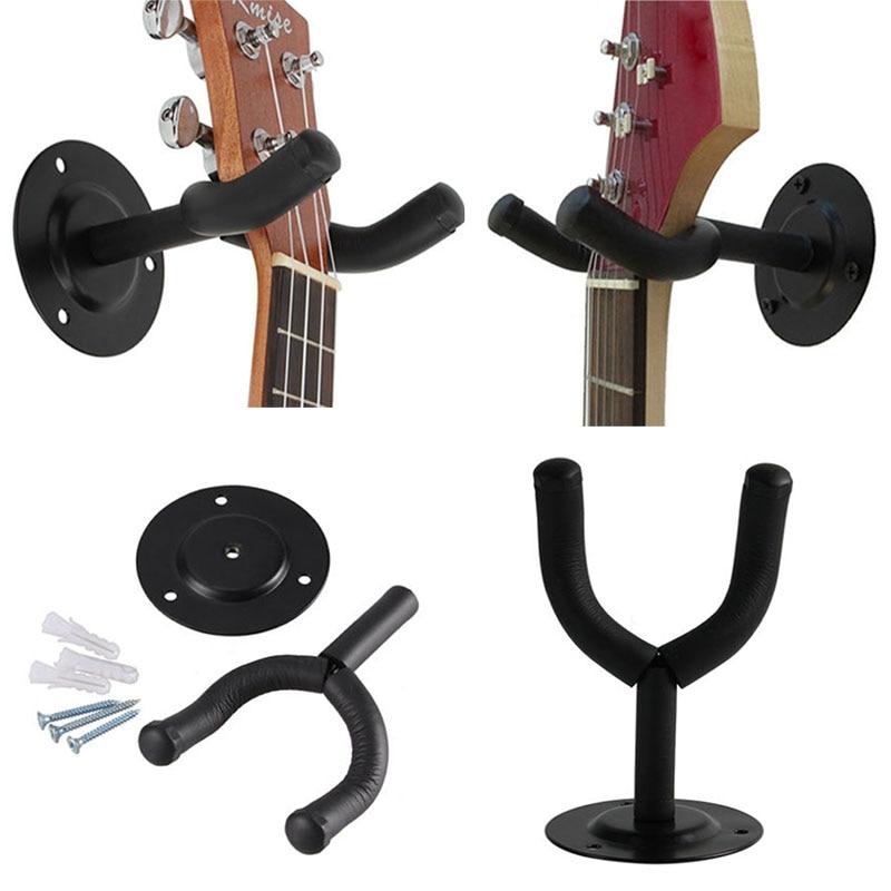 1pc Ukulele Guitar Hanger Hook Wall Mount Stand For
