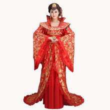 New Brand Designer traditional hanfu female Clothing Chinese ancient queen costume princess big Tailed dramaturgic Dress(China)