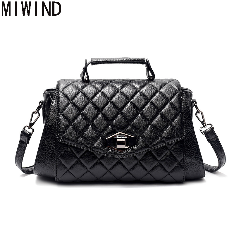 2017 Luxury Classical Black women Shoulder bags Female Pu Leather handbag Quilted Sac a main femme Crossbody Bag TAL1267 pu high quality leather women handbag famouse brand shoulder bags for women messenger bag ladies crossbody female sac a main