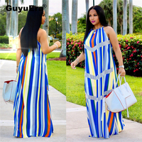 GuyuEra African Dresses For Women Striped S ling Spring Woman Dress African dashiki Dresses
