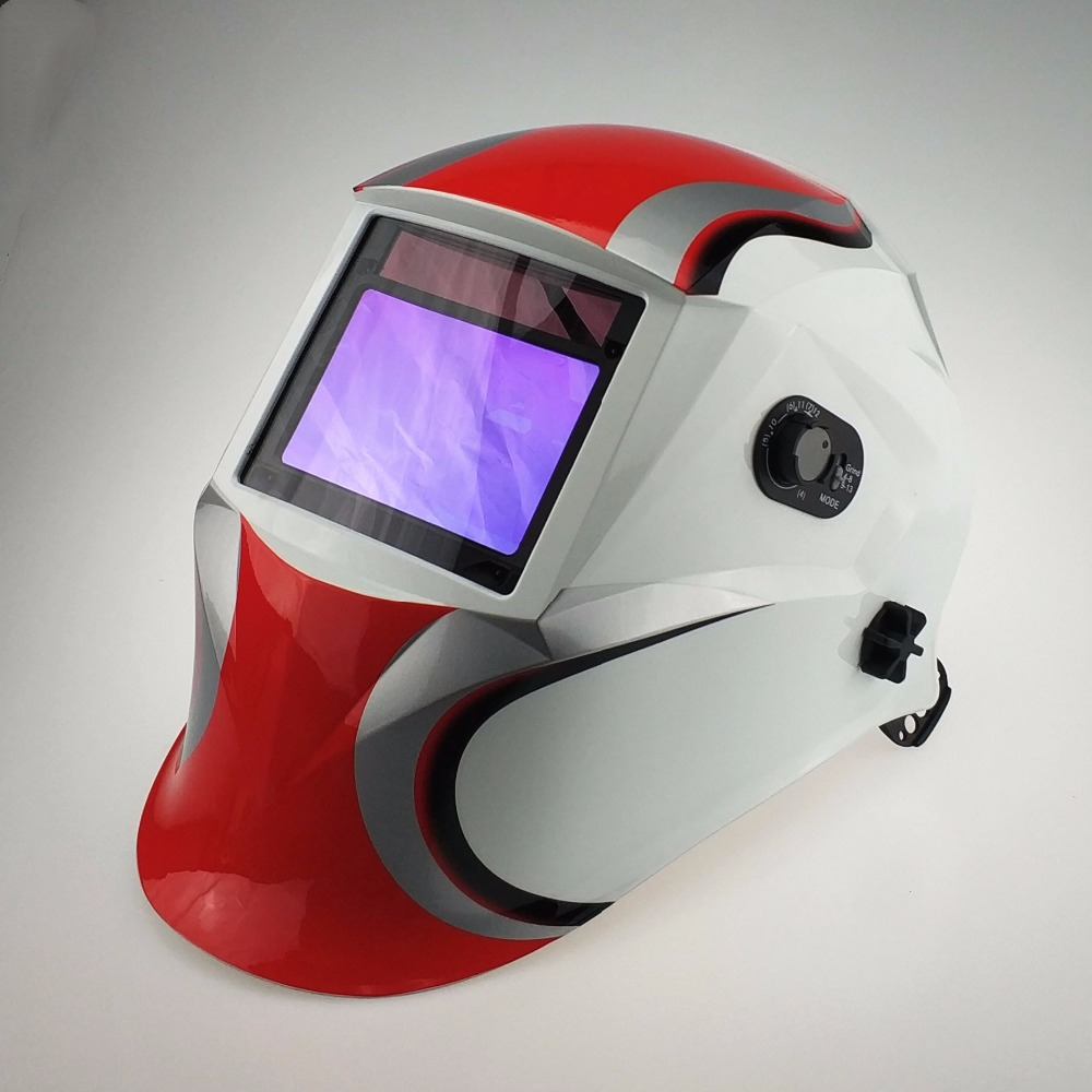 Professional Welding Mask 100x65mm3.9x2.5 Optical Class 1111 4 Sensors Welder Hat Auto Darkening MMA MIG TIG CE Welding Helmet wedling tool football pro solar auto darkening shading tig mig mma arc welding mask helmet welder cap for welding machine