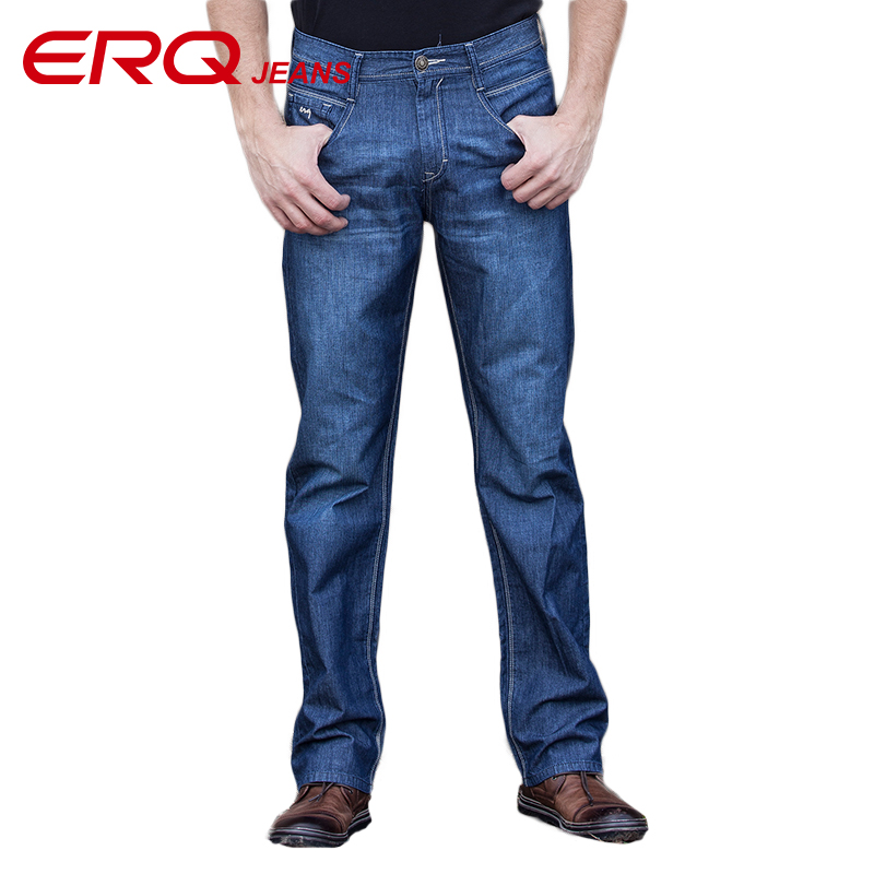 ERQ New Men Jeans High Quality Pants Skinny Jeans Men Casual Fashion Stretch Jeans Male Long Mens Straight Jeans Trousers 53175 2016 high quality mens jeans blue color printed jeans for men ripped button jeans casual pants quality cotton denim jeans