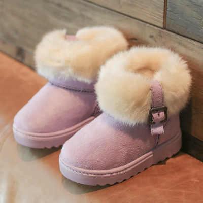 Cô gái khởi động tuyết ấm 2019 mùa đông trẻ em mới cộng với nhung bông giày cô gái công chúa lớn khởi động trẻ em