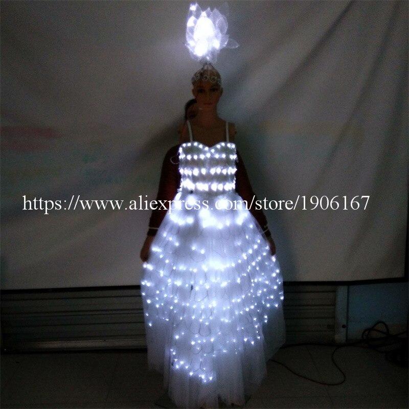 2016 οδήγησε φωτεινό φόρεμα βραδινό - Προϊόντα για τις διακοπές και τα κόμματα - Φωτογραφία 6