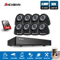 Новый супер 8CH HD AHD 4MP домашние безопасности Камера Системы комплект видеонаблюдения купол CCTV Камера P2P
