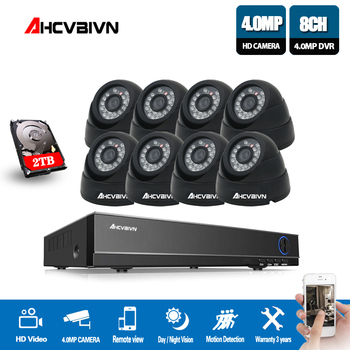 New Super 8CH HD AHD 4MP Home Indoor Security Camera System Kit Video Surveillance dome CCTV Camera P2P