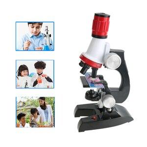 Image 5 - Microscópio kit laboratório led 100x 400x 1200x escola em casa ciência brinquedo educacional presente refinado microscópio biológico para crianças criança