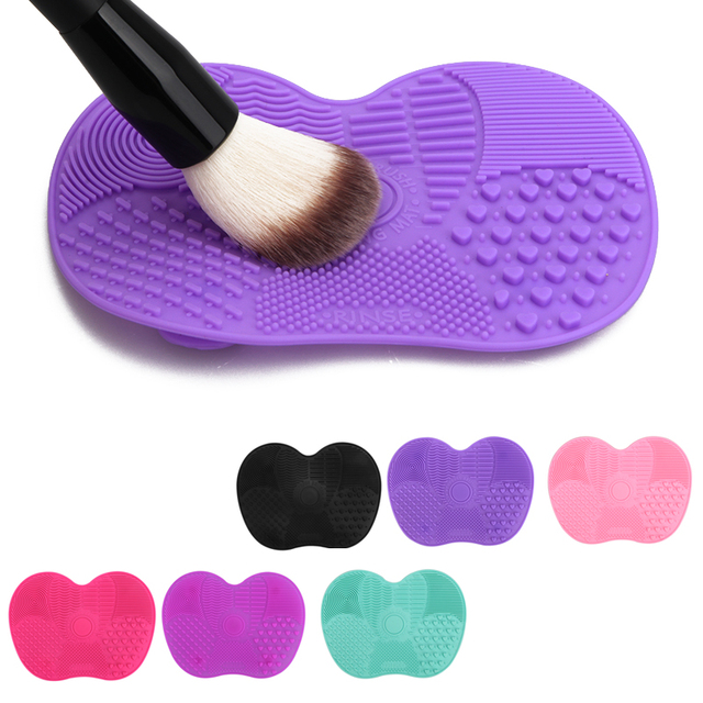 Silicone Makeup Brush Cleaner Mat Washing Tools Cosmetic Make up Eyebrow Brushes Cleaning Pad Scrubber Board Makeup Cleaner Tool