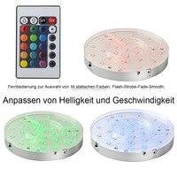 30 шт. * 20 см диаметр светодиодный свет база с пультом дистанционного управления 5 В DC Серебряное основание для свадебное украшение для стола
