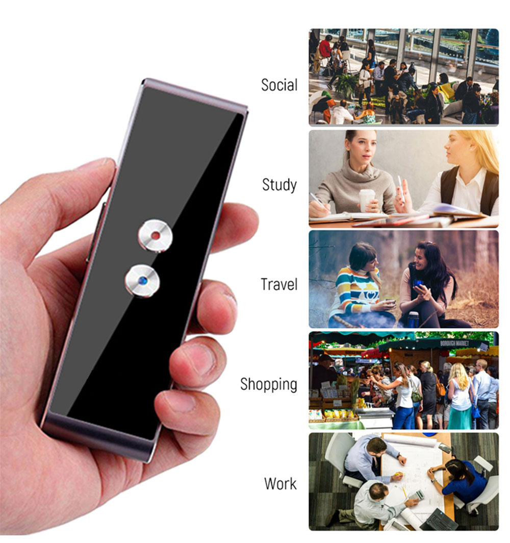 HTB1TlmZvKGSBuNjSspbq6AiipXan T8 Pocket Voice language Translator 30 Languages Two Way Real Time Intercom Portable Translator For Personal Learning Travelling