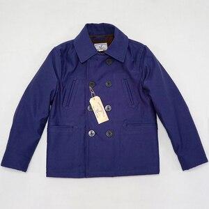 Image 4 - Bob dong 740 double breasted peacoat casaco de ervilha lã de inverno forrado jaqueta de plataforma dos homens