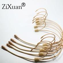 5 pièces Pro oreillette suspendue casque micro porté casque condensateur micro hypercardioïde pour Sennheiser Shure système de micro sans fil