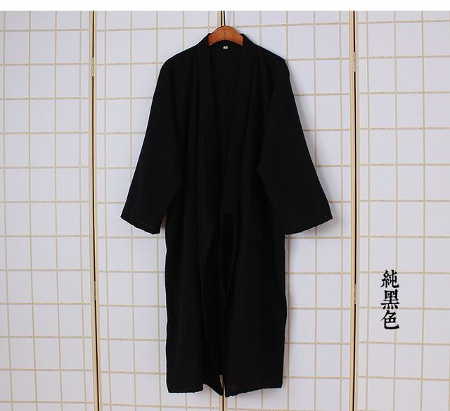 Male Cool Traditional Japanese Kimono Men's Cotton Robe Yukata Men's Bath Robe Kimono Sleepwear Traditional Yukata Sleepw 62504