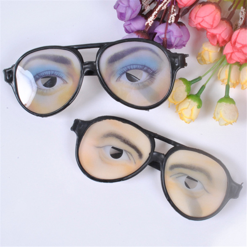1PC Men Women Funny Glasses Eyes Frames Halloween Decoration Tools Masquerade Party Accessory Adult Simulation Glasses Toy