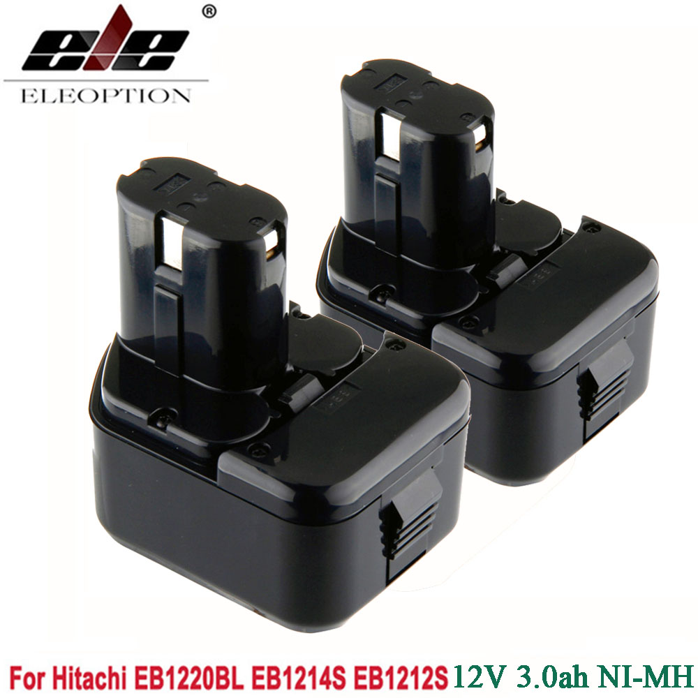 2pcs Ni MH 3000mAh 12V 3 0Ah Power Tool Battery for Hitachi EB1214S 12V EB1212S DS