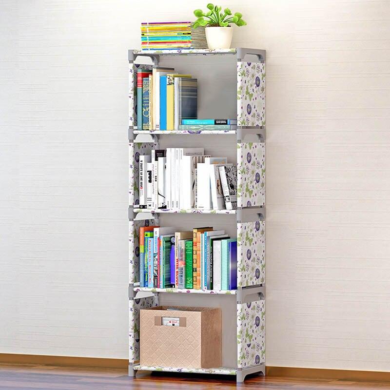Waterproof Storage Bookshelf Holders Racks Five Layers Home Office Organizer Stuff Accessories Supplies