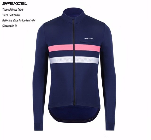 a79b2be42 2017 SPEXCEL Top quality Pro team Winter Thermal Fleece Reflective Cycling  Jersey Ropa Ciclismo Mtb Long