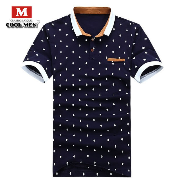 0690f8bec6d5 Mens Designer Polo Shirt Brands Summer Style Dots Cotton Polo shirt Short  Sleeve Designer Brand Men Polo shirts 2015 camisa polo