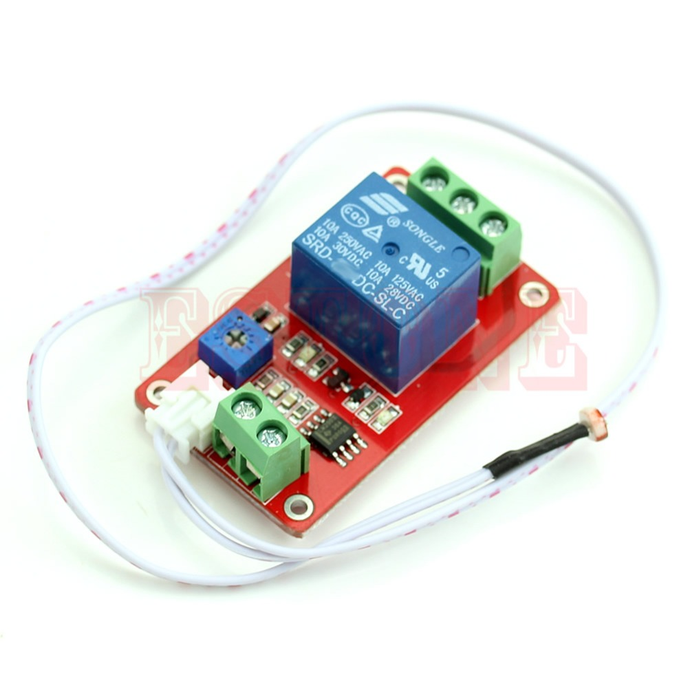Switch Photoresistor Relay Module Light Detection Sensor 12V Car Light Control H02 1pcs current detection sensor module 50a ac short circuit protection dc5v relay