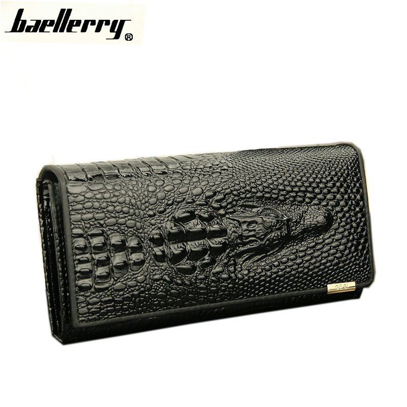 2018 New Crocodile Women's wallet Top layer leather Lady Clutches Wallet candy color brand cow leather purse Free shipping