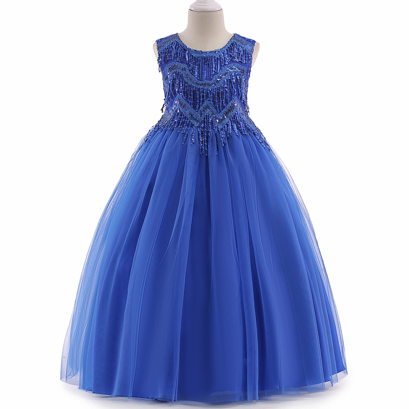 2019 kids prom   dress   princess party clothes Vestido first communion   dresses     flower     girl     dresses   for weddings clothing LP-206