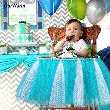 Tutu Tül Masa Etekler Bebek Duş Süslemeleri 39