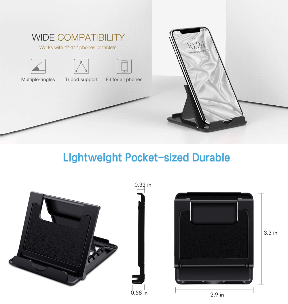 Ascromy Mobile Phone Stand Desk For iPhone X 8 Plus 7 6 Xiaomi OPPO Find X Samsung S8 Cell Holder iPad Pro 11 2018 Tablet Stand Accessories (1)
