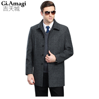 Men's Wool Coats Jackets Winter Cashmere Jackets Man Short Site Single breasted Coat Turn down Collar Plus Size 5xl Woolen Coats