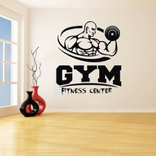 YOYOYU GYM Removeable Art Vinyl Wall Sticker Fitness Man Decal Fitness Center Living room Bedroom Home Decoration Poster ZX405 cartoon chemist man wall sticker decal chemist sticker home bedroom decoration a00353