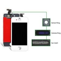 20 штук 100% хорошее качество отображения для iphone 4 4S ЖК планшета + сенсорный экран + рамка сборки Замена Бесплатная доставка черный белый