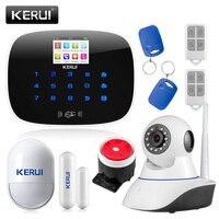 KERUI ЖК дисплей PIR сенсор GSM Автодозвон ДОМ ОФИС охранной сигнализации системы Поддержка г 2 г сигнала Android и IOS приложение управление
