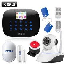 KERUI LCD PIR חיישן GSM חיוג אוטומטי בית משרד פורץ פולש תמיכת 2G אות אנדרואיד ו ios APP שליטה