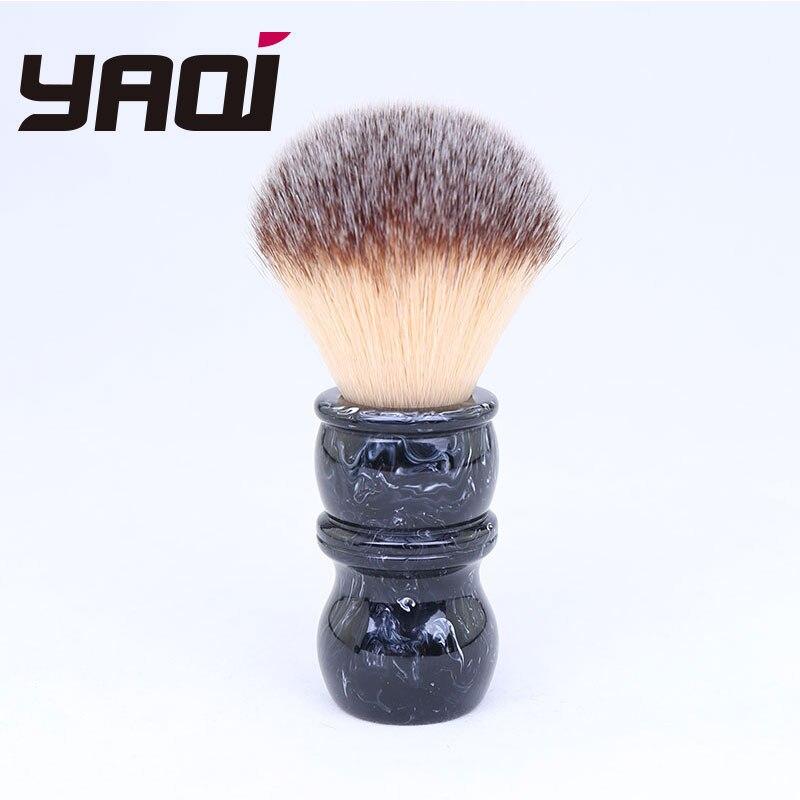 24mm hombres afeitar cepillo mango de resina de Nylon para los hombres de barba profesional peluquería de limpieza de afeitar brocha de afeitar herramienta