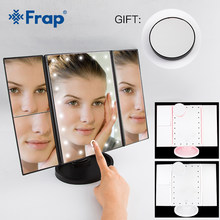 Frap 22 LED Light Makeup Mirror Touch Screen 1X 10X Table Desktop Countertop Bright Adjustable USB Cable Or Batteries Use Y61009(China)