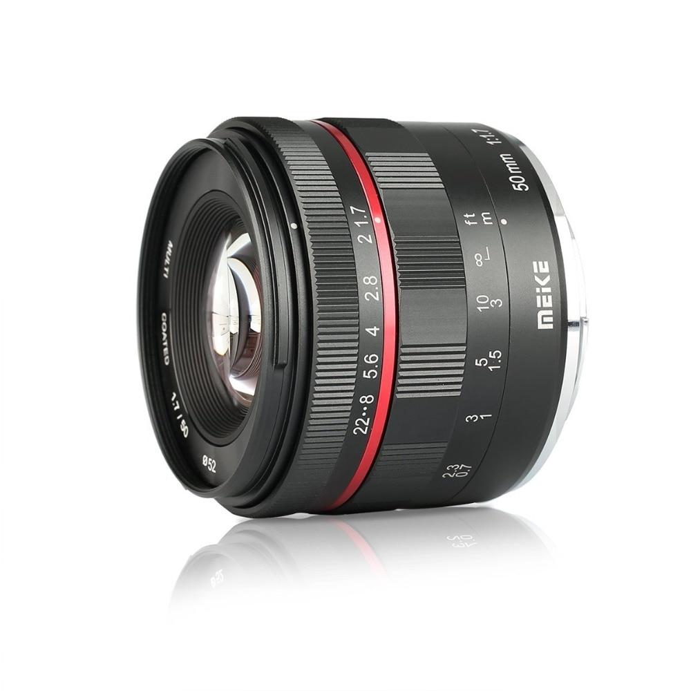 Meike 50mm f/1.7 objectif de mise au point manuelle à grande ouverture pour Canon EOS R mount/pour Nikon Z Mount Z6 Z7 appareils photo sans miroir + cadre complet - 3