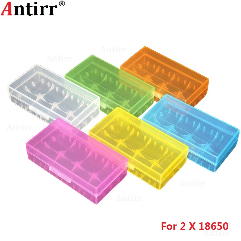 <font><b>18650</b></font> 2x Plastic Battery Case CR123A 16340 <font><b>4</b></font> cell 18350 Batteries Spare Carrier Holder Storage <font><b>Box</b></font> colorful Waterproof Container image