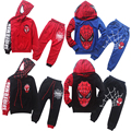 2016 New Fashion Cartoon Children Spiderman Clothes Kids Boys Clothing Sets Girls Boys Sport Suit clothes+pants