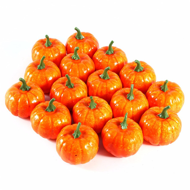 16pcs small pumpkins fall foam pumpkin halloween decoration foam