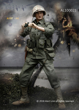 лучшая цена 1/6 Scale Military Soldiers WWII US Marine Corps Browning Automatic Rifle (BAR) Gunner Set Fit 12