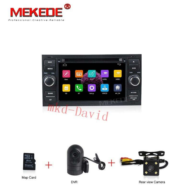 HD tela Capacitiva de 7 polegadas tela carro dvd player de áudio Para Ford Focus Fiesta Galaxy S Max Max C Fusão Kuga Trânsito