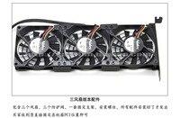 Nidec H35731 55MEI three fan 12V 0.045A 80x80x15mm General Purpose Video Card Mute Heat Radiation Fan Strengthen Fan