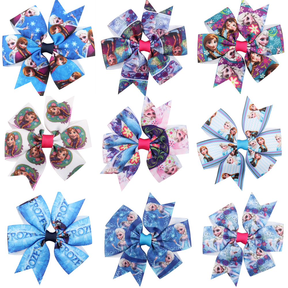 Lovely hot Cartoon image Ribbon Wraped clip barrettes Children infant hairpins Cute bow shape Hair Accessories lovely soft germination clip to candy fruit a word clip children s hair accessories