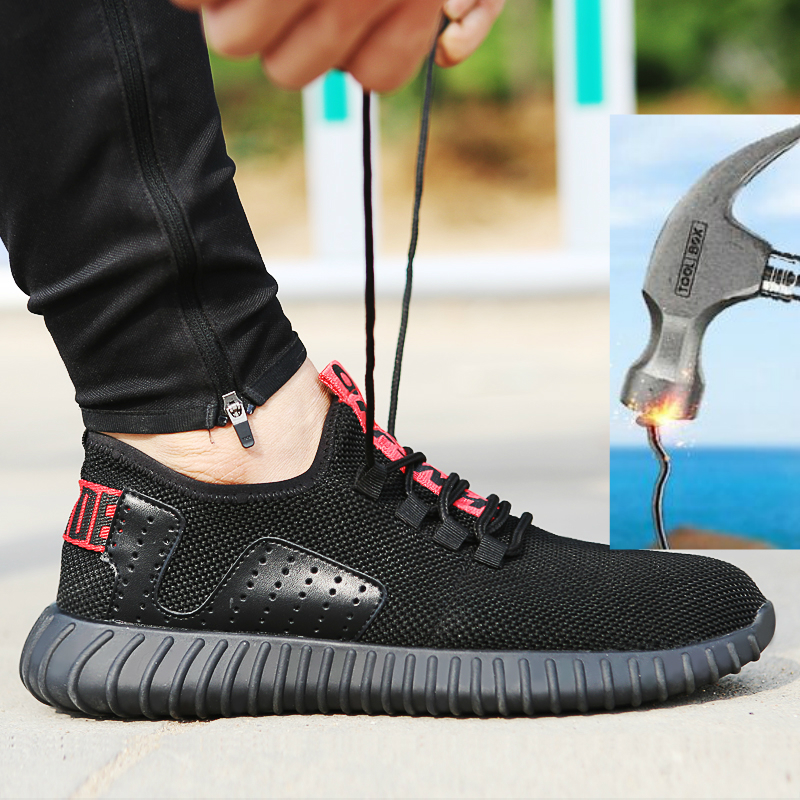 new fashion big size men breathable mesh steel toe covers