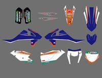 מדבקות מדבקות גרפיקת Team סגנון חדש KTM 125 150 200 250 300 350 450 500 EXC SX SXF EXCF XC XCF XCW 2017 2018