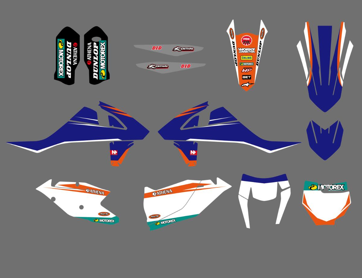 New Style Team Graphics Decals Stickers For KTM 125 150 200 250 300 350 450 500 EXC EXCF SX SXF XC XCF XCW 2017 2018 carb carburetor 36mm pwk fit ktm 2008 2015 250 300 xc xcw sx 2 strokes keihin