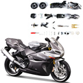 1130CC Silver Motorcycle Model Building Kits motorcycle model building kits 1/12 assembly toy kids gift mini moto diy diecast